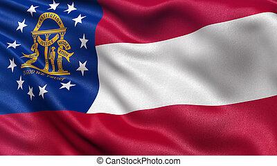 US state flag of Georgia