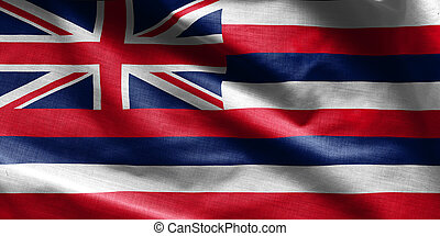US state flag of Hawaii - waving fabric background, wallpapers,
