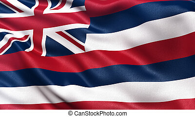 US state flag of Hawaii