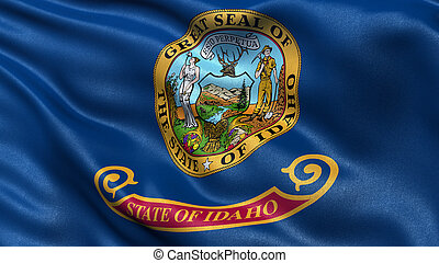 US state flag of Idaho