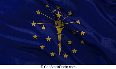 US state flag of Indiana loop - US state flag of Indiana...
