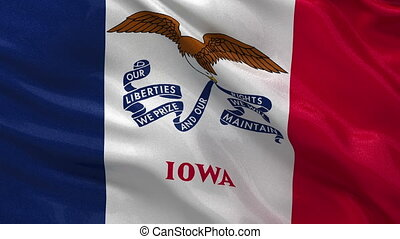 US state flag of Iowa loop