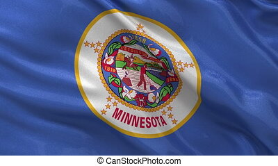 US state flag of Minnesota loop