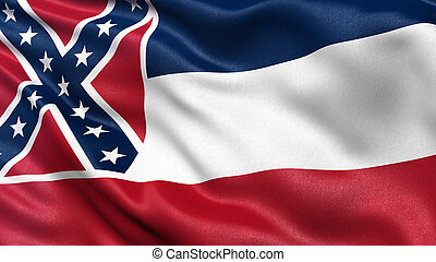 US state flag of Mississippi