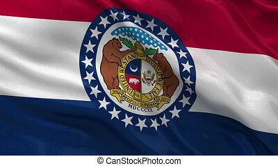 US state flag of Missouri loop