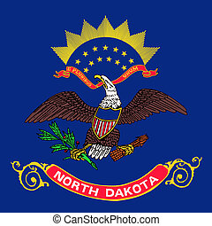 U.S. state flag of North Dakota