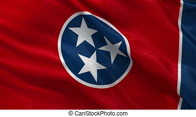 US state flag of Tennessee loop