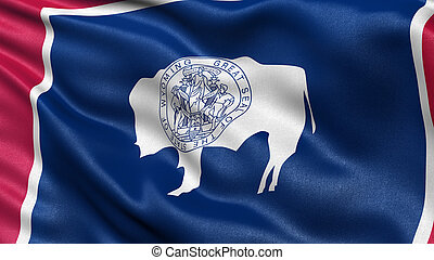 US state flag of Wyoming