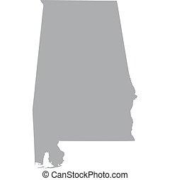 U.S. state of Alabama - map of the U.S. state of Alabama