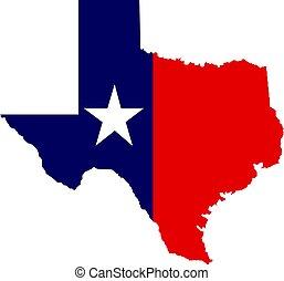 U.S. state of Texas map vector logo design.