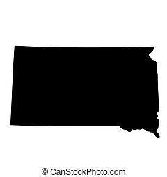South Dakota map - U.S. state South Dakota map Vector ...
