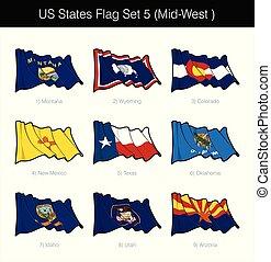 US States Flag Set - Mid West