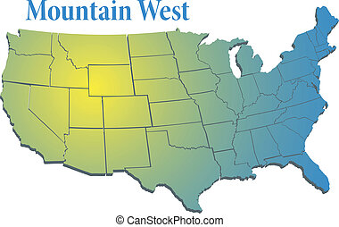 US states Region Mountain West map