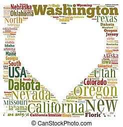 US states.