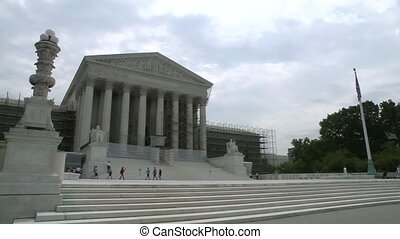 The US Supreme Court building in Washington, DC just after it upheld Obamacare.