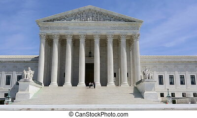 US Supreme Court Building - Tourists visit the Supreme Court...
