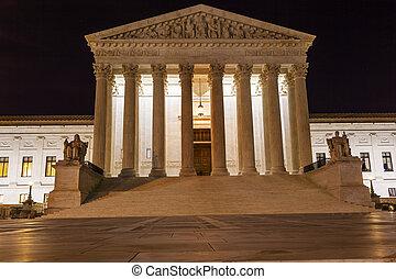 us supreme court, capitol vyvýšenina, večer, zlatý hřeb, washington dc