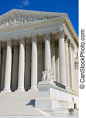 The Supreme Court building is the seat of the Supreme Court of the United States. It is situated in Washington D.C. at One First Street Northeast, on the block immediately east of the United States Capitol.