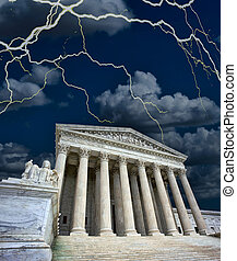 US Supriem Court in a Storm.