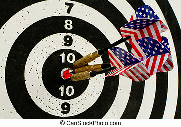 US target - Darts with American flag flights hitting the ...