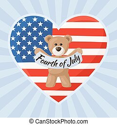 US Teddy Bears for Independence Day