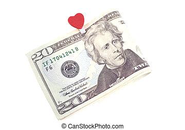 U.S. ten dollars isolated on white
