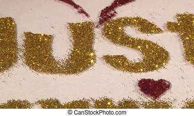 Just Married - Us to Just Married, gold dust, zoom out