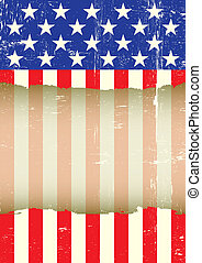 US torn flag