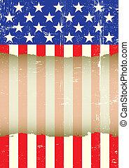 US torn flag