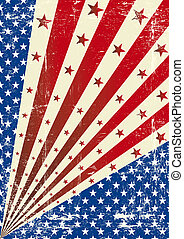 US torn poster - A tricolor grunge background with a texture...