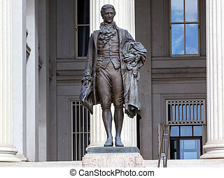 US Treasury Department Alexander Hamilton Statue Washington...