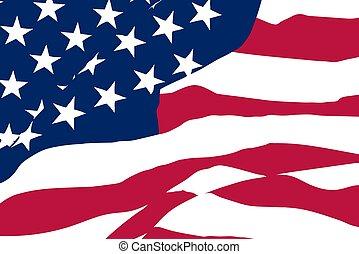 US vector flag