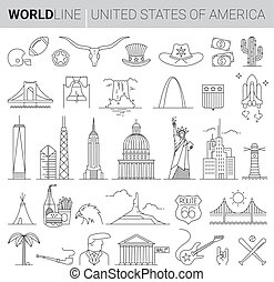 US Vector Line Icons