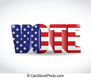 us vote flag sign illustration design