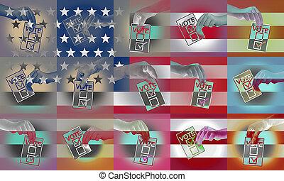 US Voters Concept