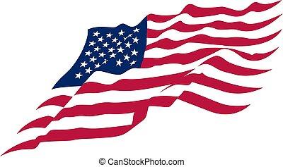 US Waving flag