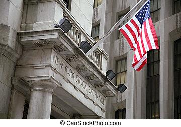 usa, échange, wallstreet, new york, stockage