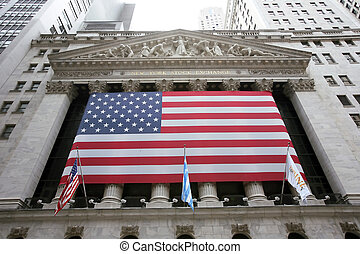 usa, échange, wallstreet, new york, stockage