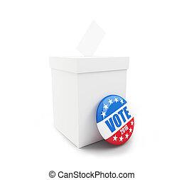 usa, élection, fond, blanc, 2016, présidentiel
