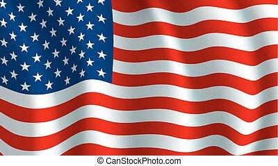 usa., シンボル, 旗, アメリカ人, ベクトル, 国民