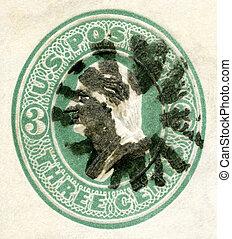 USA - 1870's: shows President George Washington - USA -...