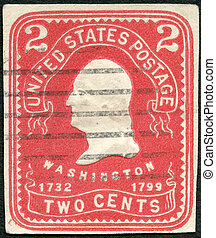 USA - 1903: shows President George Washington