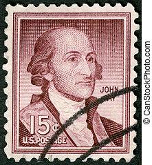 USA - 1958: shows Portrait John Jay (1745-1829) - USA -...