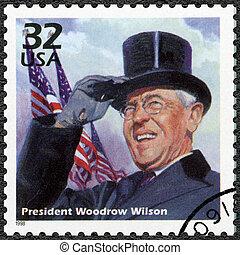 USA - 1998: shows Woodrow Wilson, series Celebrate the ...