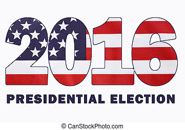usa, 2016, präsidenten-, wahl, fahne