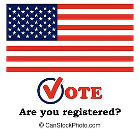 USA 2016 Presidential election - Are you registered? - template