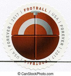 USA - 2017: shows Football ball, series Have a Ball