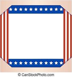 USA abstract flag Patriotic border frame.