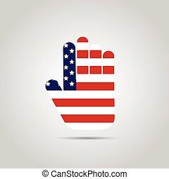 USA Abstract Hand