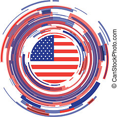 usa abstract icon